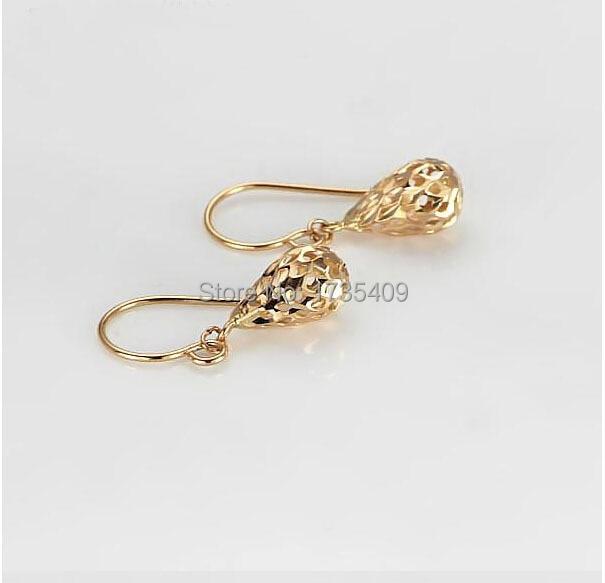 New Italy Earrings Rose gold Dangle Earrings 2.00g leopard feather dangle earrings