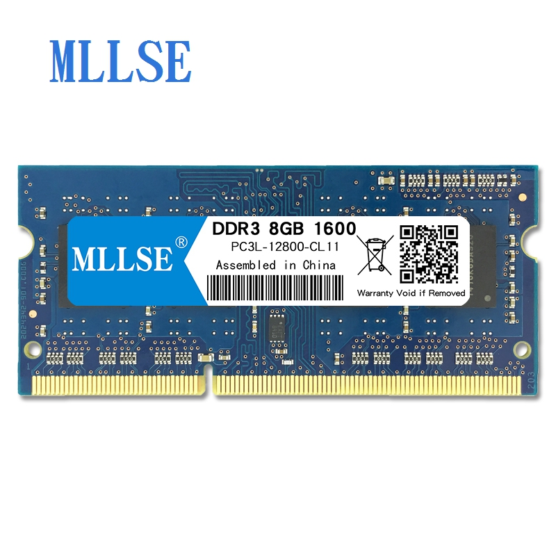Mllse Laptop Sodimm Ram DDR3L 8GB 1600mhz 1.35V memory For notebook PC3L-12800S 204pin non-ECC Notebook RAM memoria