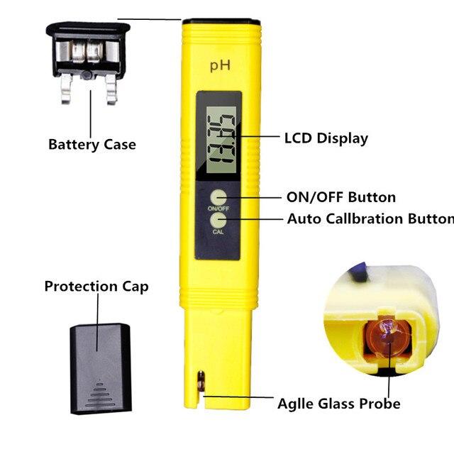 Alta Accurate LCD 0.01 PH TDS Meter CE Purezza Dell'acqua 0-9999 PPM Filtro Laboratorio Idroponica Aquarium Pool Tester 37% di sconto