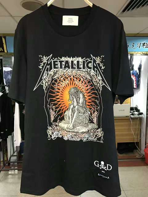 31f49223a 2017ss summer tshirt men Fear Of God Metallica justice for all Graphic  Artwork Design Vintage justin