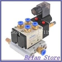 Dc 12 В 2 позиция 5 разъём(ов) пневматический электромагнитный клапан 4V210-08 ж базы