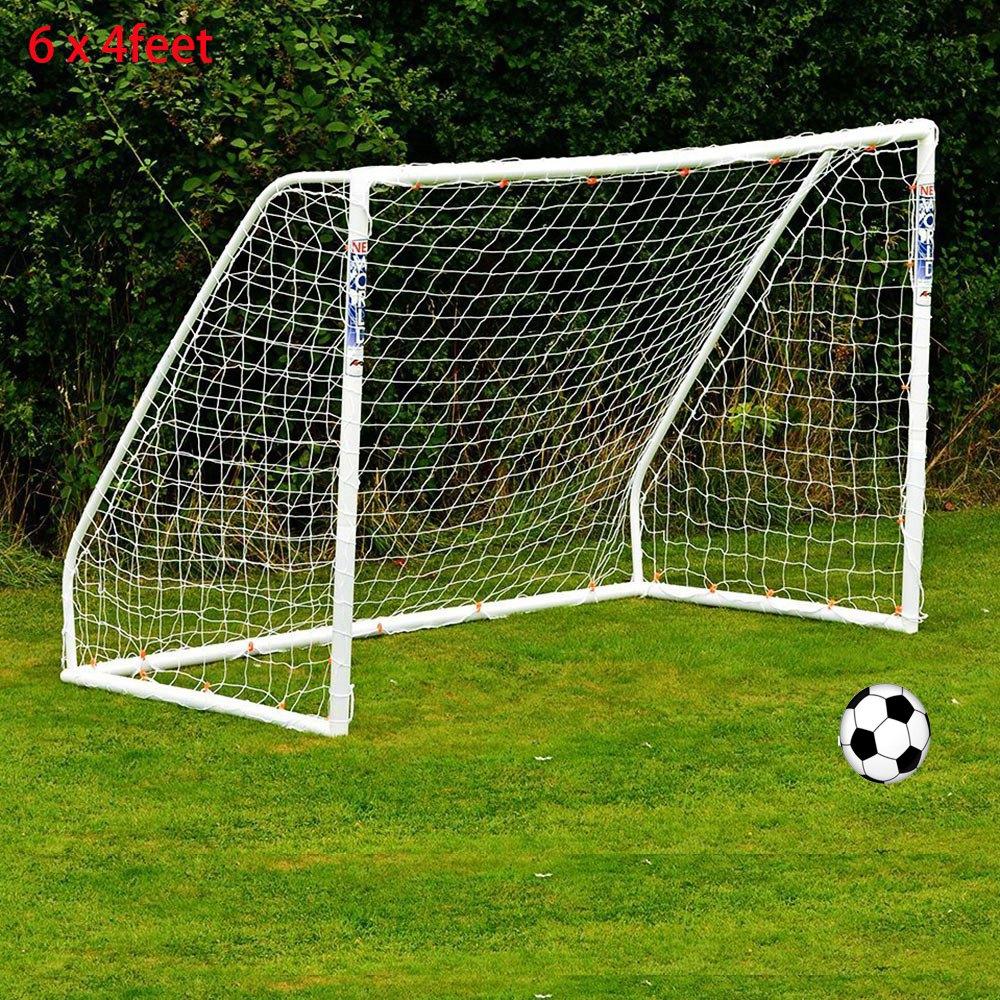 Full Size 6 x 4FT Football Soccer Goal Post Net 1.8m x 1.2m Sports Match  Training Junior Polypropylene Fiber Just Football Net-in Soccers from  Sports ... 6eed4a144