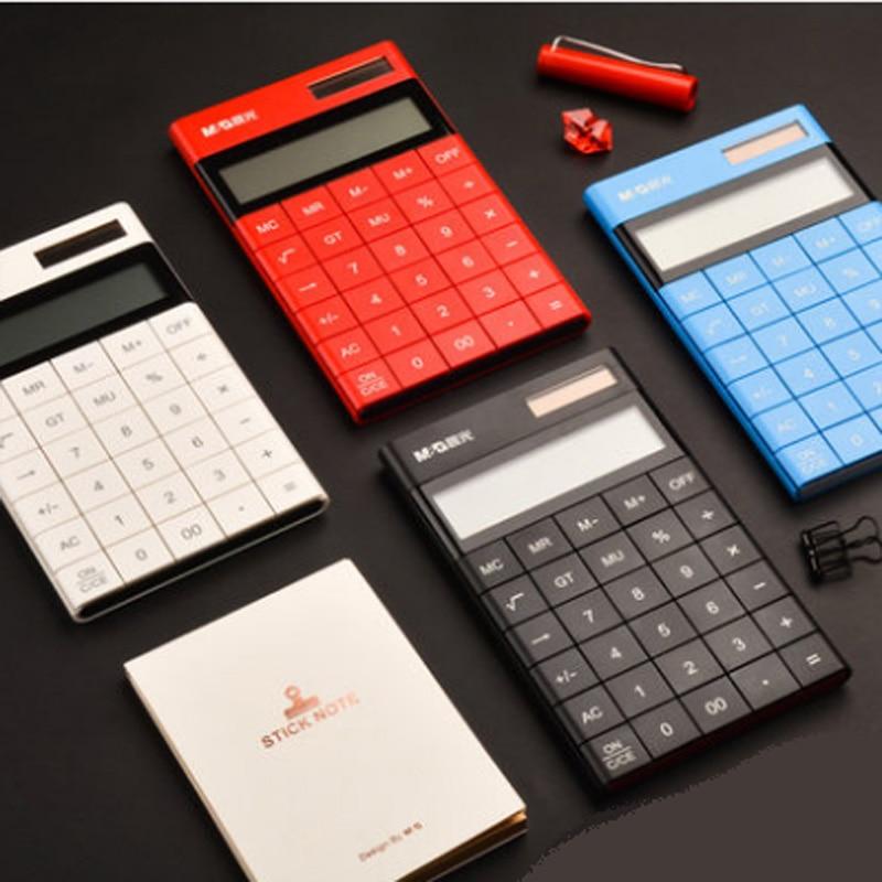 Neueste Neueste 12 Digits Display Tasche Elektronische Berechnung Rechner Dual Power Studenten Kinder Geschenk Büroelektronik Taschenrechner