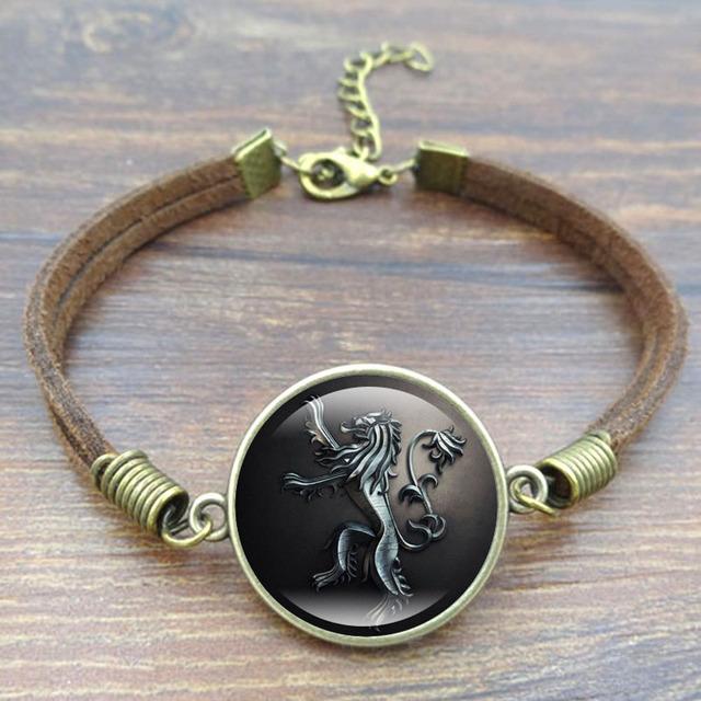 Game of Thrones Stark Wolf Charm Bracelet