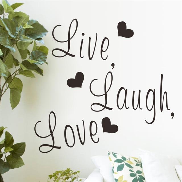 Live laugh love letters vinile wall stickers per camera da letto ...