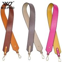 WDPOLO Split leather fashion handbag strap lady chic fashion round plain color bag straps women lovers presents hot M2443