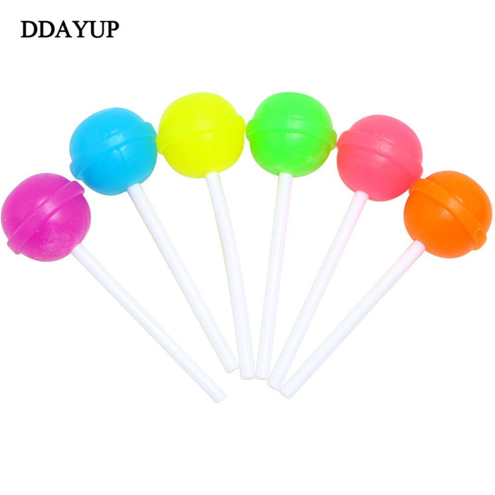 6Pcs/lot Creative Sweet Candy Lolipop Eraser For Kids Gift Cleaner Material Stationery School Supplies