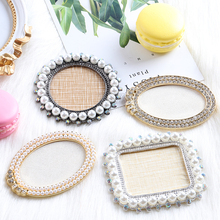 1Pcs/lot round oval retro Rhinestones pearl False Nail Art Plate Tips Practice Display Sho