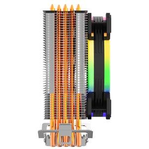 Image 4 - Aigo darkflash L5 LED CPU Cooler Radiator TDP 285W Heat Sink AMD Intel Silent 120mm 4Pin PC CPU Cooling Cooler Heatsink Fan