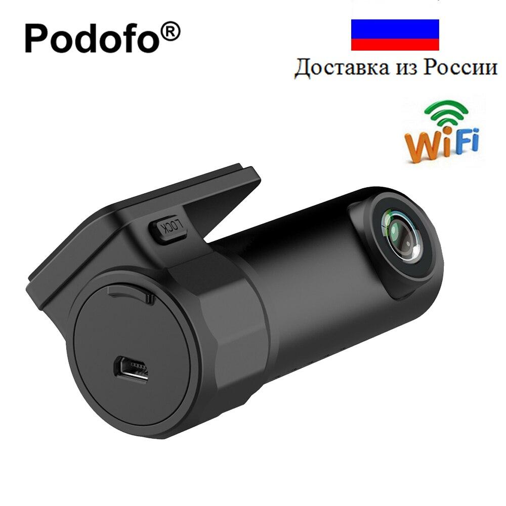 Podofo Mini WIFI Car DVR Camera Dashcam Video Recorder Digital Registrar Auto Camcorder APP Monitor Wireless DVRs Dash Cam