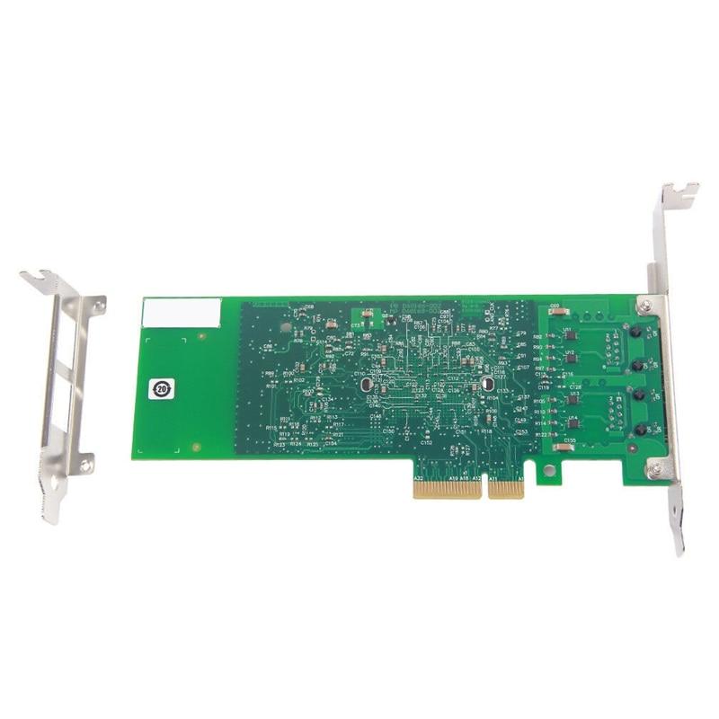 Double-Port Pci-E X4 Gigabit Ethernet carte réseau 10/100/1000 Mbps Lan adaptateur contrôleur câblé 82576 Eb/Gb E1G42Et