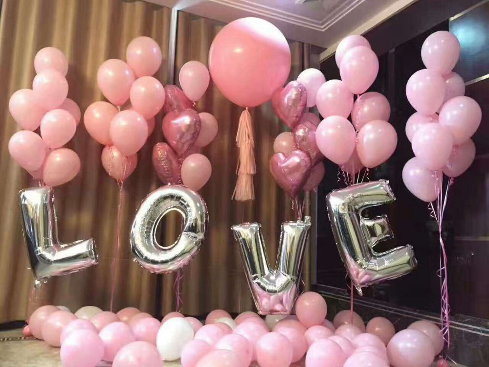 Ynaayu 40Inch Foil Balloons Silver Letter A Z Digit Helium Ballons Birthday Party Wedding Decor Air Baloons Event Party Supplies in Ballons Accessories from Home Garden
