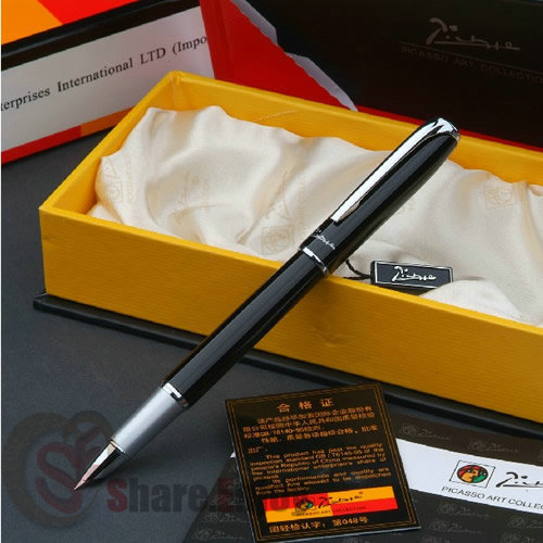 Silver Fine Hooded Nib Fountain Pen
