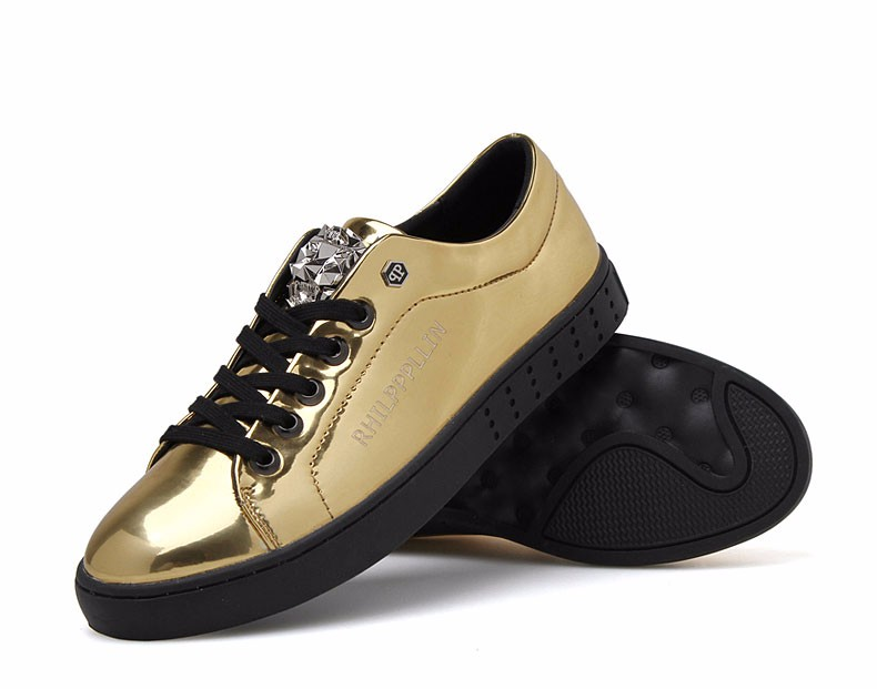 KUYUPP 2016 High Quality PU Patent Leather Men Flats Shoes Leopard Head Sequined Skate Shoes Round Toe Lace Up Men Flat Heel Y31 (39)