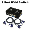 2 Port USB 2.0 KVM VGA/SVGA Switcher Box 1920*1440 Monitor Video Switch With 2 Cables For Computer PC