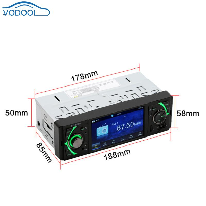 4.1inch Screen Car AUX MP3 MP5 Audio Video Player Support TF Card U Disk 5089 AVI MP4 FLV RM MPG RMVB DIS ACC AC3