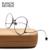 Bola De Ouro da moda Personalidade de Metal Óculos de Armação Mulheres Homens Óculos Frames Limpar Lens Quadro Vidros Ópticos