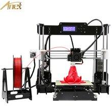 Anet A8 Grande Tamaño de Impresión 220*220*240mm de Precisión Reprap Prusa i3 DIY 3D Impresora Filamento del Kit De Conexión de 10 M 8 GB Tarjeta y LCD y Video
