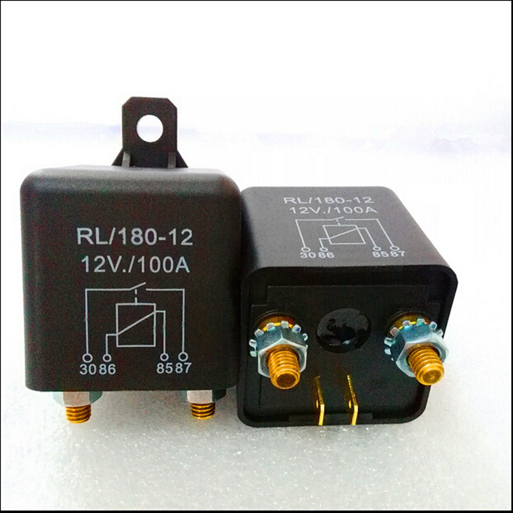 Automobile relay  RL / 180-12 normally open electromagnetic current 100 A DC12V 4 pin  Auto starter relay automobile relay zl180 normally open electromagnetic current 120 a dc12v 4 pin auto starter relay