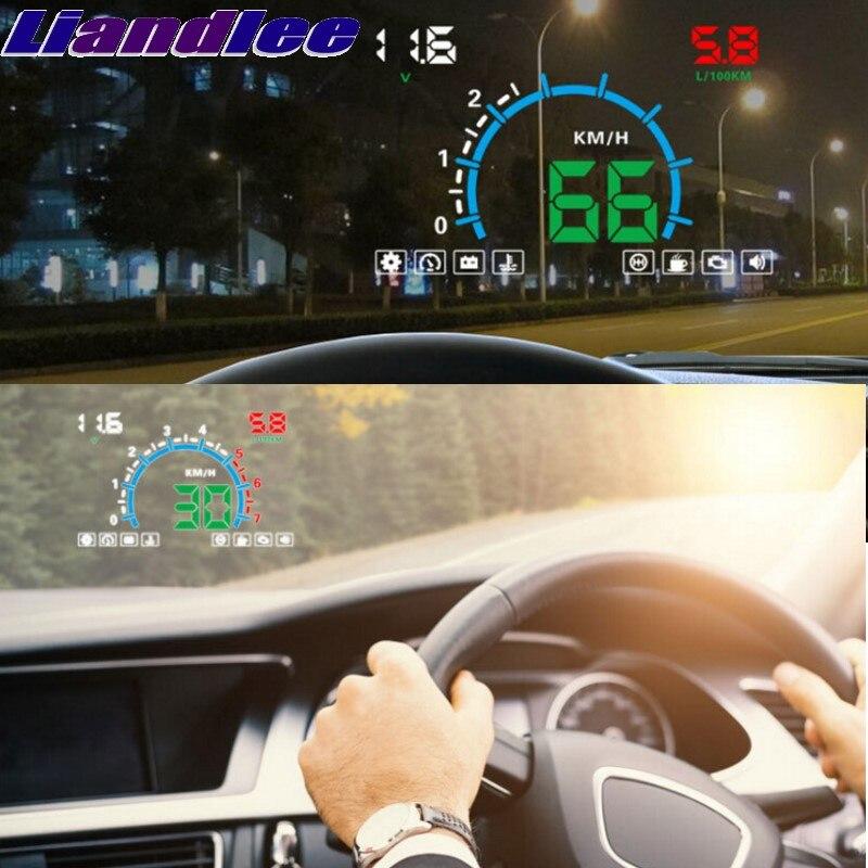 Liandlee HUD For Hyundai Creta Entourage Getz ix25 ix35 ix45 ix55 Speedometer OBD2 Head Up Display Big Monitor Racing HUD