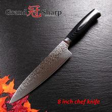 NEUE 8 Zoll Kochmesser Hohe Qualität 67 Schichten Japanischen Damaststahl VG-10 Core Küchenmesser Micarta Griff Kochen Werkzeuge