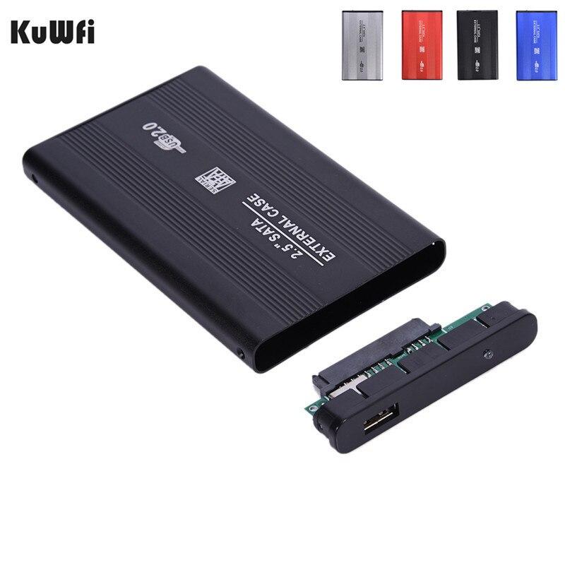 USB2.0 SATA de 2,5 pulgadas HD caja de disco duro cartucho de aleación de aluminio de HD HDD caso duro para Windows XP Vista Win7 Win8 Win10 OS