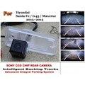 Para Hyundai Santa Fe/ix45/Maxcruz 2013 ~ 2015 Carro Inteligente estacionamento Câmera/com Faixas Módulo Câmera Traseira Visão CCD Noite