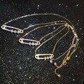 Designer de moda 925 de jóias de platina / ouro / rosa de ouro 3A Cubic Zirconia partido