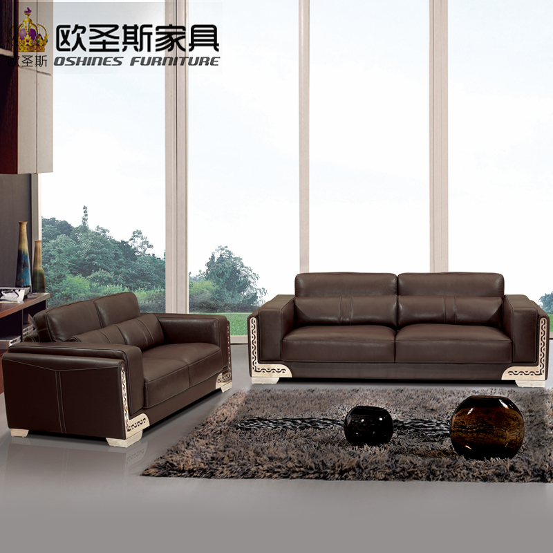 US $782.0 8% OFF|2019 Modern Style High End Portugal Coffee Brown Color  Office Commercial Softline Nicoletti Italian Leather Sofa Set OCS 610-in ...