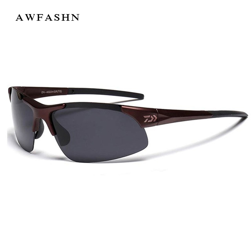 Gafas de sol polarizadas de pesca deportiva al aire libre DAIWA para hombre y mujer gafas de sol antiuv para escalada con lentes de resina marca