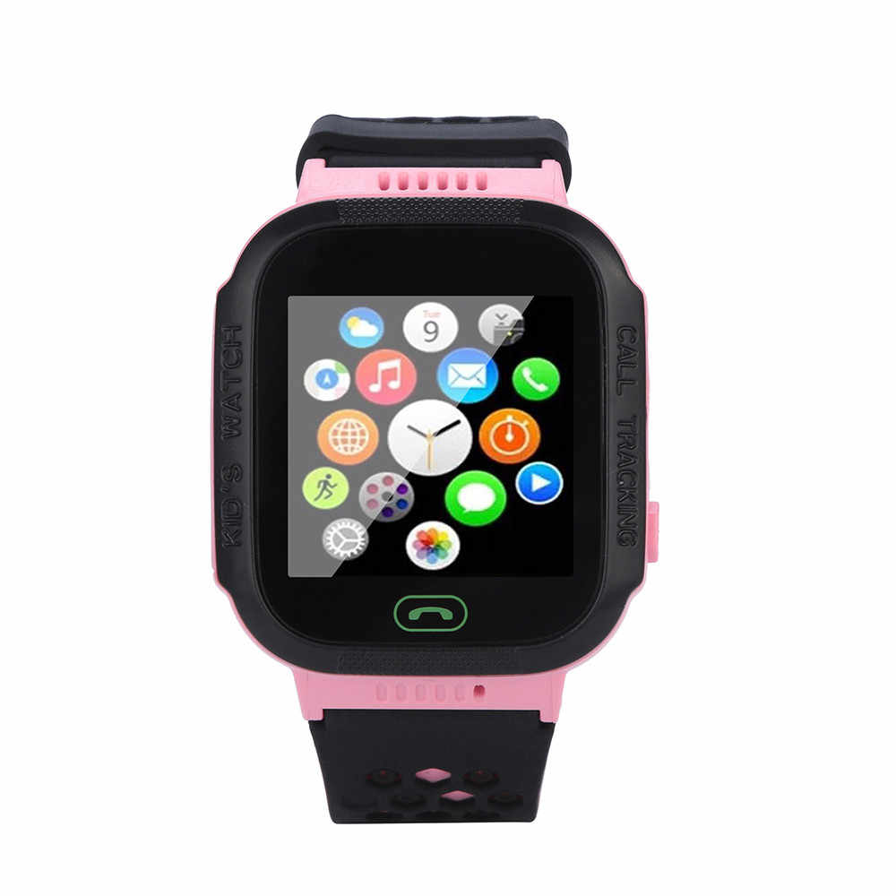 2019 New Arrival SmartWatch Touch Screen Support SIM With GPS GSM Locator Touch Screen Tracker SOS Flashlight For Children #A