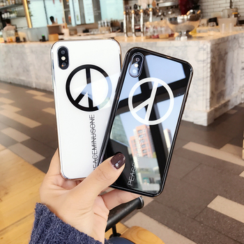Fashion Personality Bigbang G-Dragon Fans Design Peaceminusone Anti-War Case For iPhone 6 6s 7 Plus Plating Mirror Back Cover iPhone