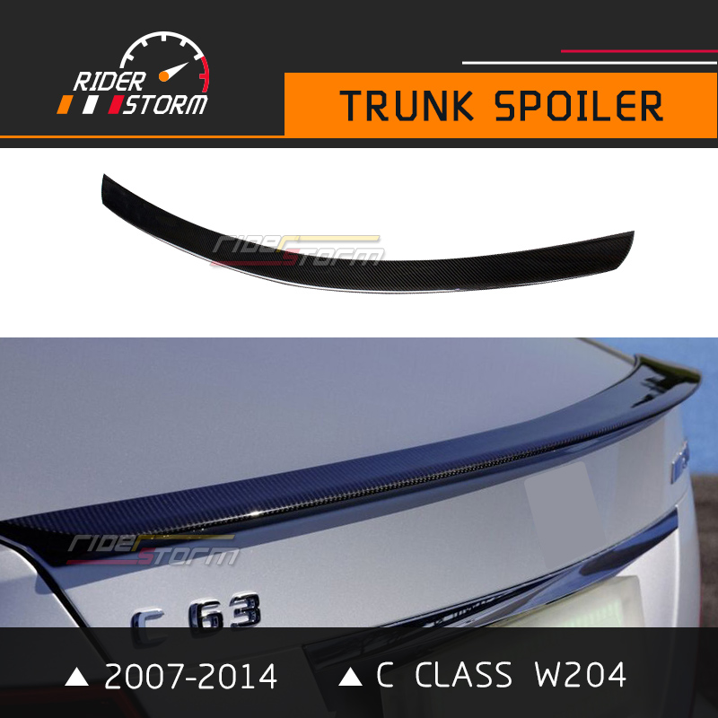 C Class Carbon Spoiler W204 Amg Style Rear Trunk Wing Bootlid Lip 2007-2014 C180 C200 C250 Car Styling Accessories Sedan Only