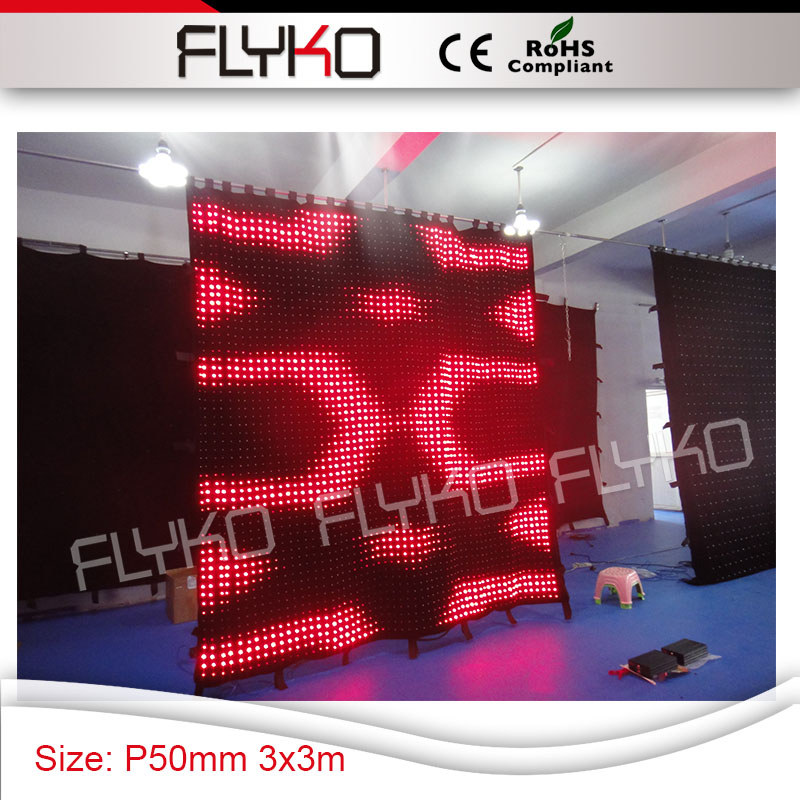 US $3724 0 |Pixel 50mm black velvet wall media display video cloth soft  flexible led wall stage curtain-in Stage Lighting Effect from Lights &