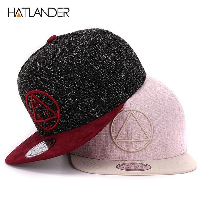 Calidad del casquillo del Snapback-triángulo redondo bordado marca plana  gorra de béisbol de ala 8536d2e12f9