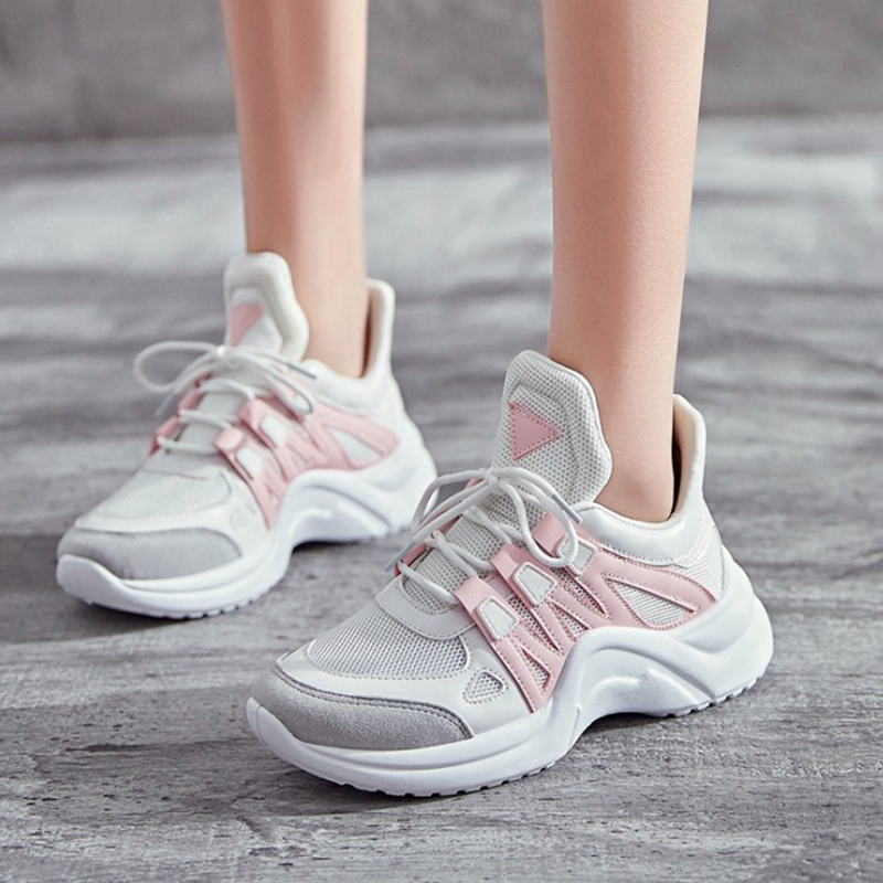 68db9253f5f Women Sneakers 2018 New Fashion Women Casual Shoes Trends Ins Female White  Flats platform Spring Summer Lace Up Size 35-40 EE-47