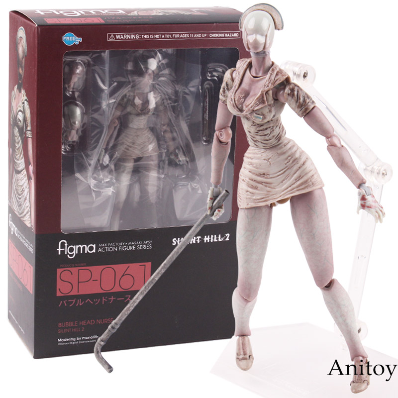 Figma Action Figure Series Silent Hill 2 SP-061 Bubble Head Max Factory X Masaki Apsy PVC Action Figure Collectible Model Toys figma model action figure figurine kids children toy statue black max factory