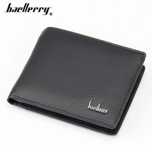 Baellerry Genuine Leather Men Wallets Short Design Card Holder Coin Pocket Casual Brand Male Purse Male Purse Top Quality