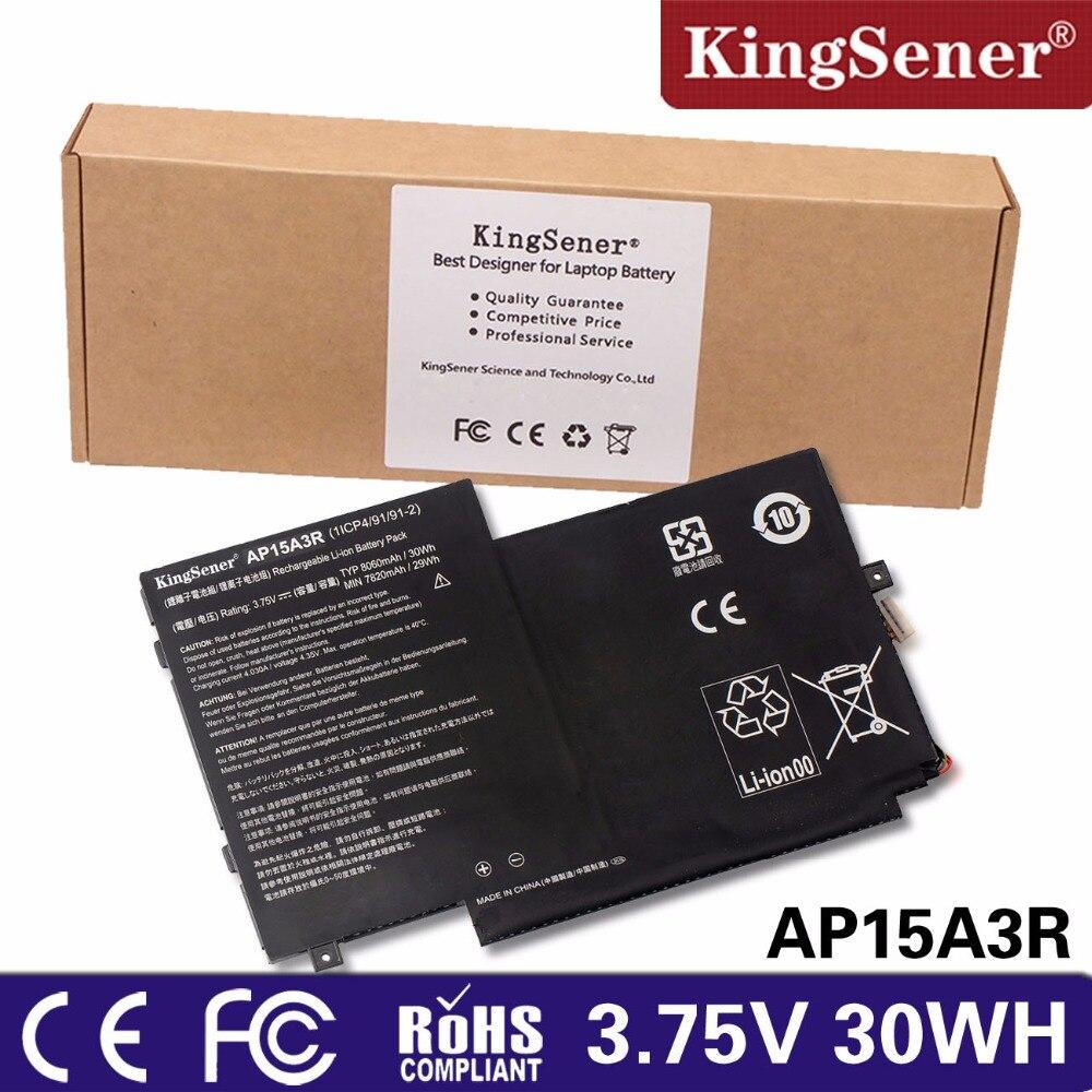 KingSener New AP15A3R Laptop Battery for Acer Aspire Switch 10E SW3-013P Series AP15A8R AP15A3R 3.75V 30WH Free 2 Years Warranty kingsener new c32 g46 laptop battery for asus rog g46 g46v g46vw series notebook 11 1v 6260mah 69wh free 2 years warranty