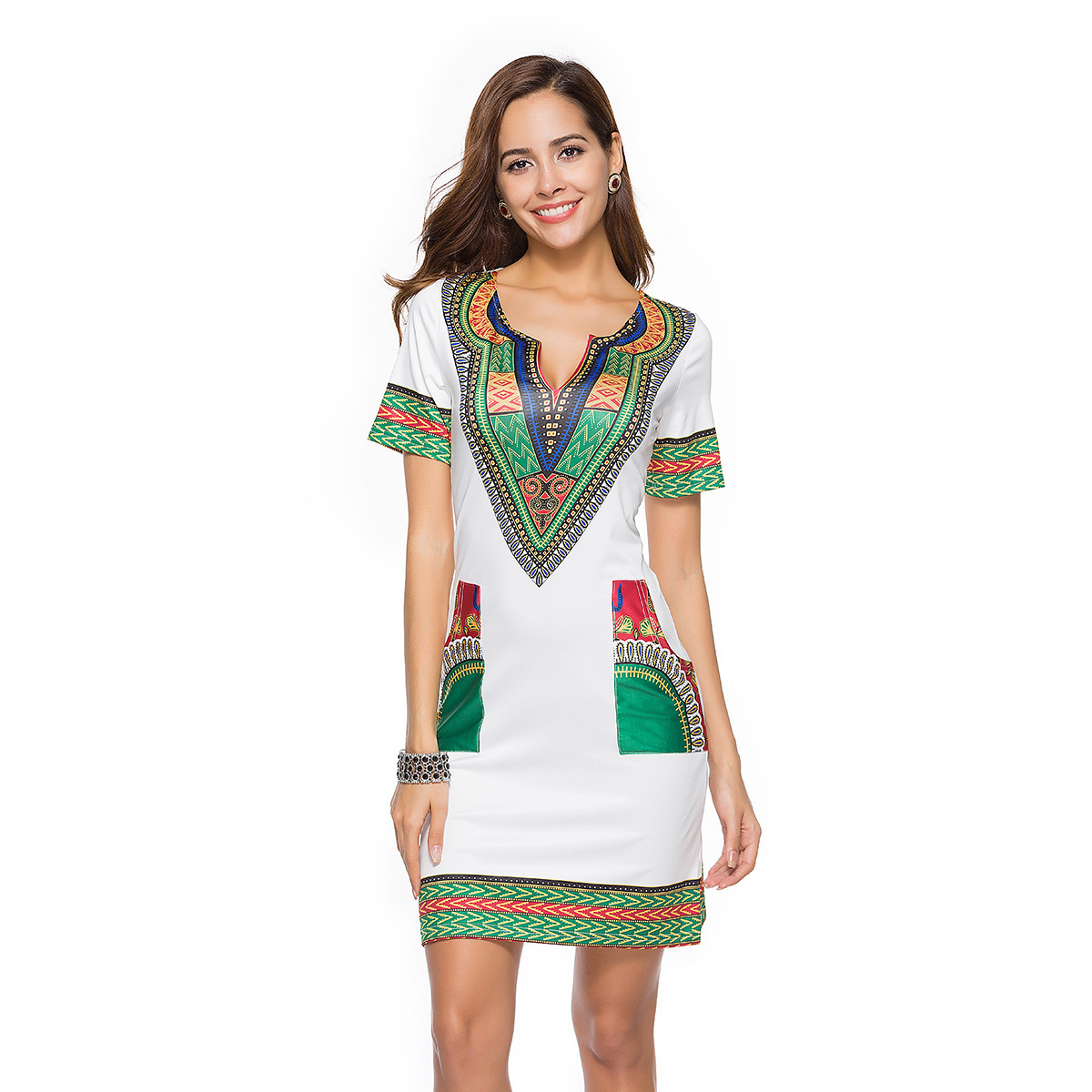 f9ddba9bd78f Sosaeg 2018 Spring And long casual Summer beach dresses Nation Wind  Printing Dress women Girls Women s clothes sexy fashion -in Dresses from  Women s ...