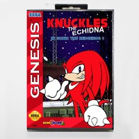 Knuckles The Echidna In Sonic The Hedgehog 1 - Retail Box - Sega Megadrive/Genesis 1