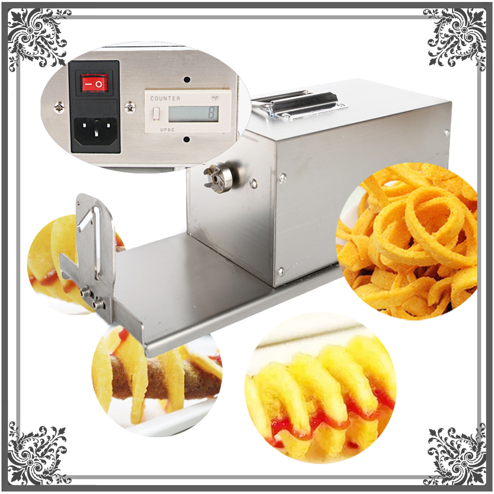 ITOP Electric Potato Twister Tornado Slicer Machine Automatic Cutter Spiral 110/220v automatic electric twister tornado potato spiral curly cutter slicer machine
