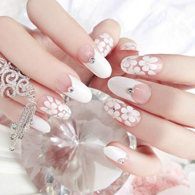 24 Teile Satz Ziemlich Japan Flora Falsche Nagel Madchen Finger Full