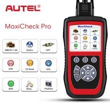 Autel maxicheck برو obd2 ماسحة epb/abs/srs/sas//خدمة إعادة النفط/bms/dpf قانون القارئ أداة تشخيص السيارات تحديث الانترنت