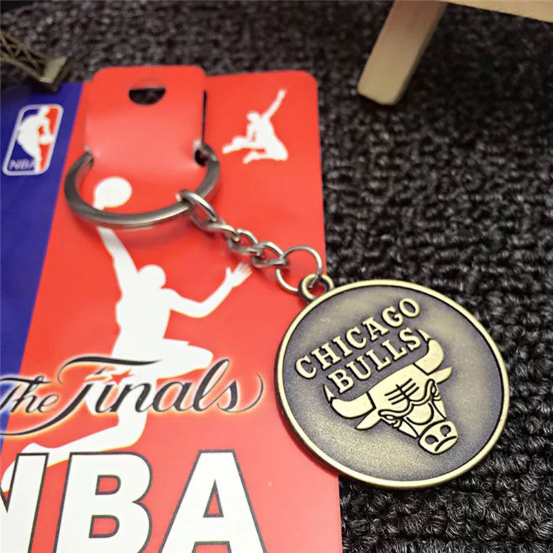2018 New League Teams Logo Metal Keychains Basketball Association Keychain  Roket Basketball Souvenirs Car Keyring Man Women Gift ... f5e86309b