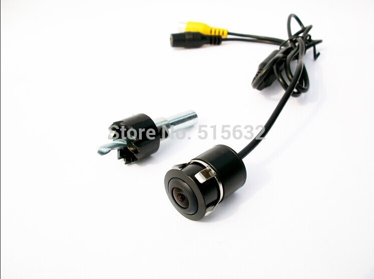 18.5mm Universal CCD Rear View Camera Reverse Backup Review Parking for All Car ccd car reverse camera for ssangyong rexton kyron backup rear review reversing parking kit waterproof nightvision free shipping