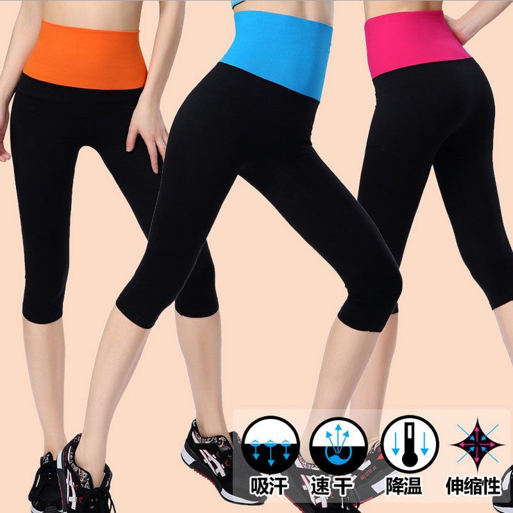 women tight pants capris brand new models aerobics Slim leg  Fitness WA04