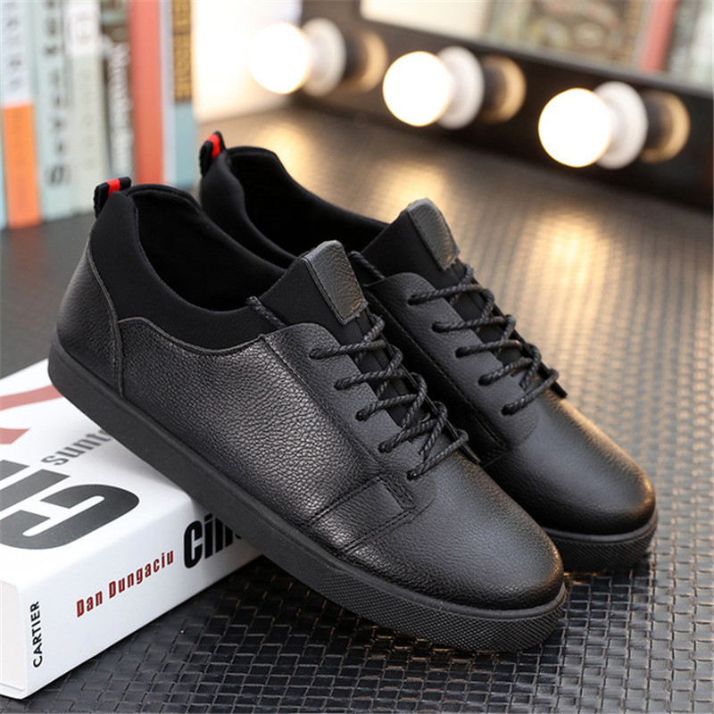 Mens Breathable High Quality Casual Shoes PU Leather Casual Shoes Slip On Men Fashion Flats Loafer Male Sneakers Driving Shoes