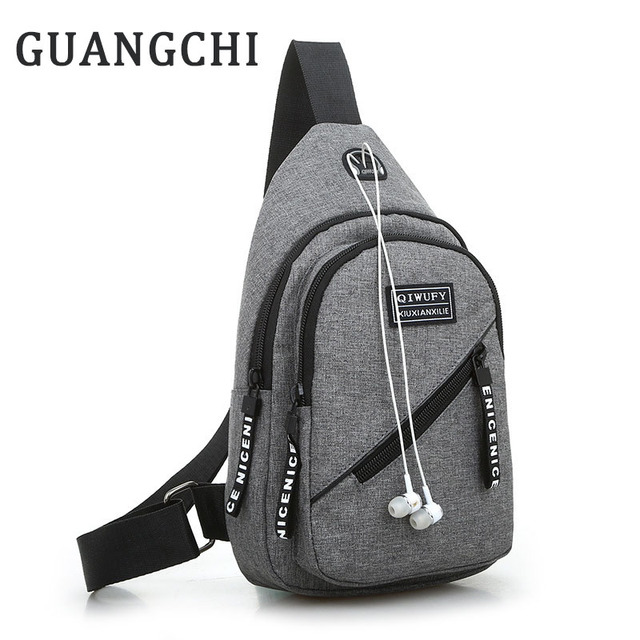 New Male Chest Bag Fashion Leisure Waterproof Man Oxford Cloth Korea Style  Messenger Shoulder Bag For Teenager Bag e3d53556938f9
