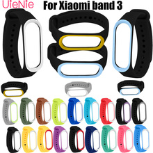 For Xiaomi Mi Band 3 smart watch Strap Round hole silicone Strap Band 3 Bracelet Wristband Band Wrist Strap For Xiaomi Mi Band 3